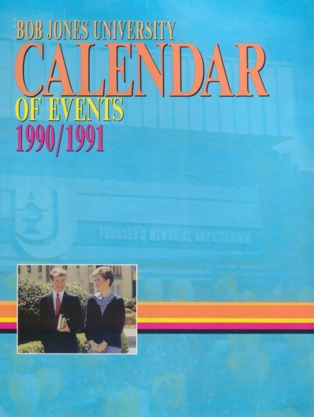 Camille and Grant, Calendar of Events, 1990