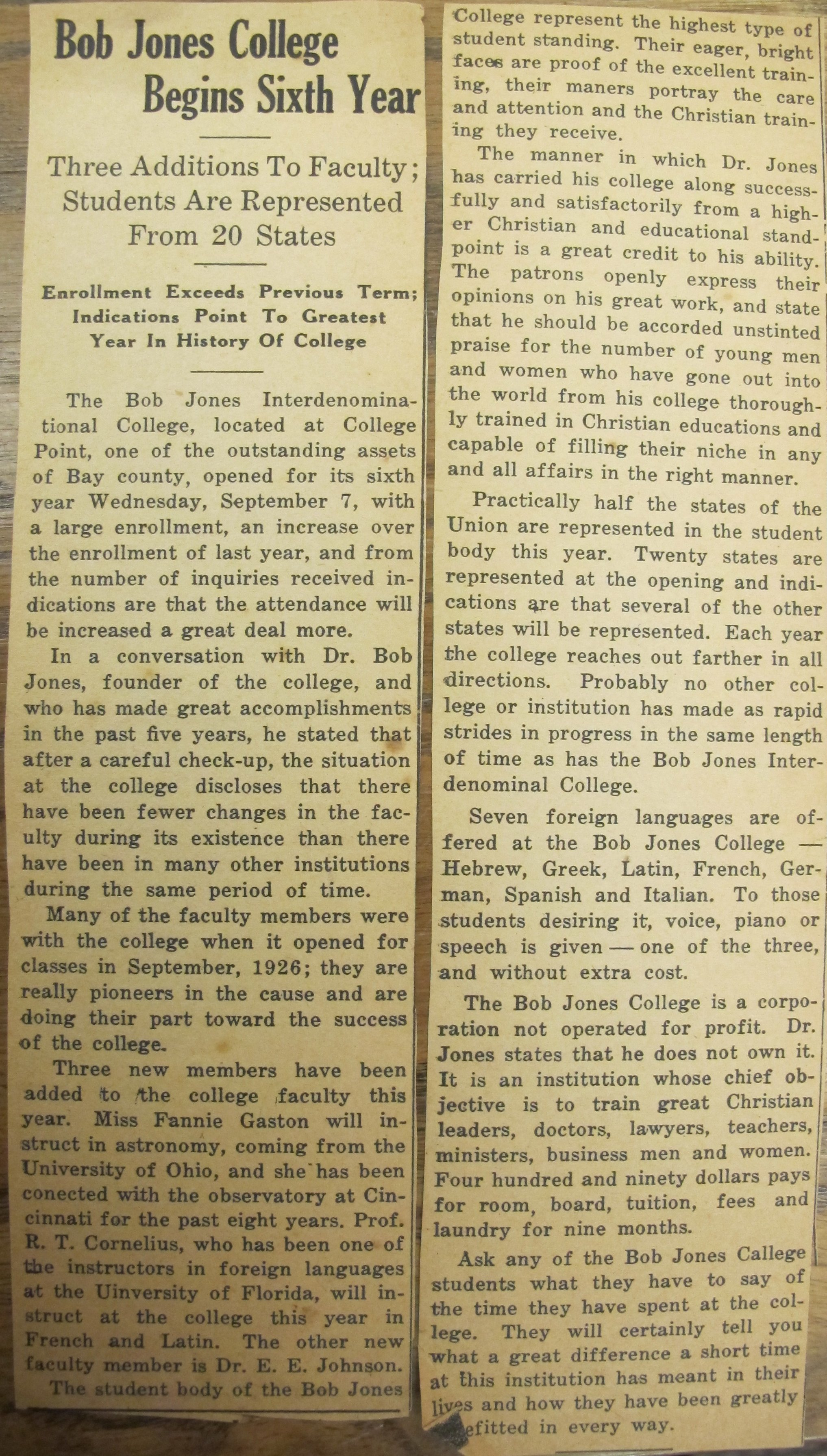 Sept 1, 1932, Panama City