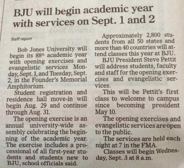 August 28, 2014, Greenville News