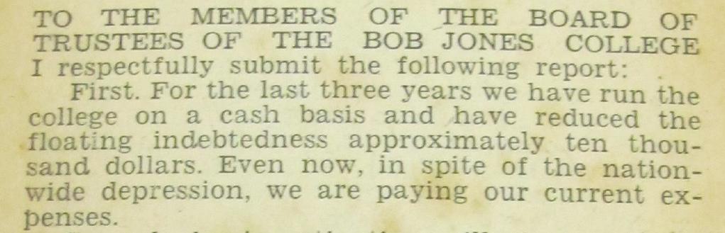 January 1933, BJSr to the Board
